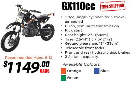 GX 110cc Dirt Bike
