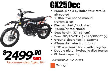 GX 250cc Dirt Bike