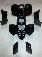 Black Plastic Fender Body Kit for 50cc/110cc, 802/Mini Spyder, ATV Quad 4 Stroke - 802BodyKitBlack