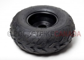 16x8-7 (160/70-7) Tubeless FY-001-05 Tire & 3 Hole Black Rim for ATV - G1040010-2