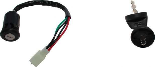 Ignition Key Switch - 4 Pin Male, 4 wire, Plastic - PBC1891F1 - Pocket Bike  Canada - Mini ATV , Dirt Bikes, Pocket Bikes, Scooters, Electric Bikes and